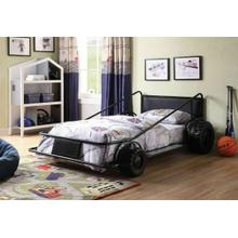 ACME Taban Twin Bed - 38080T - Black & Black PU