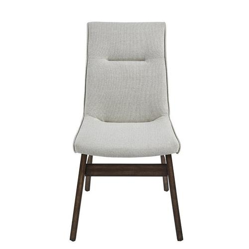 Upholstered Dining Chairs, Set of 2 - Walnut Brown Finish