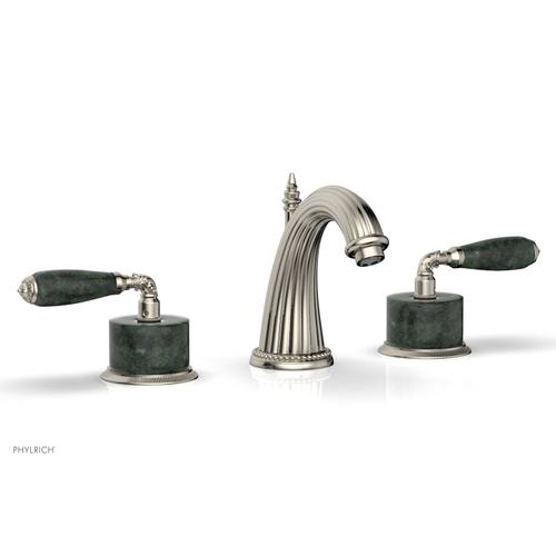 VALENCIA Widespread Faucet Green Marble K338F - Polished Nickel