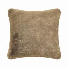 Fun Fur Short Hair Cushion - Beige