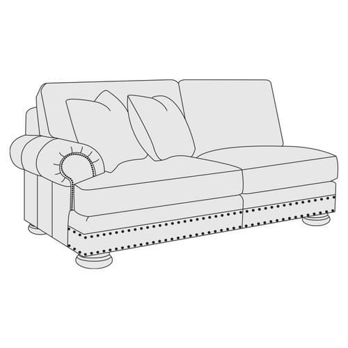 Gallery - Foster Left Arm Loveseat in Molasses (780)