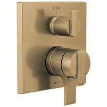 Champagne Bronze Angular Modern Monitor ® 17 Series Valve Trim with 3-Setting Integrated Diverter