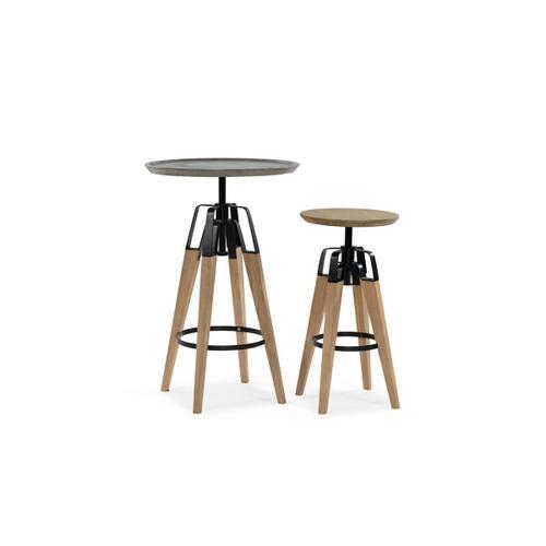 VIG Furniture - Modrest Yates Modern Concrete & Oak Bar Table