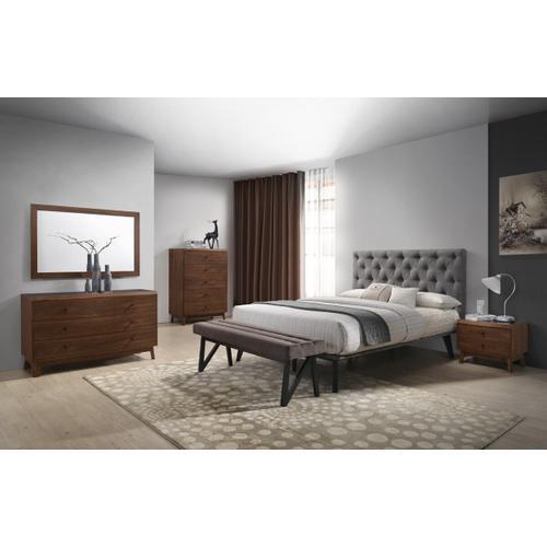 VIG Furniture - Modrest Gibson Modern Walnut & Black Glass Chest