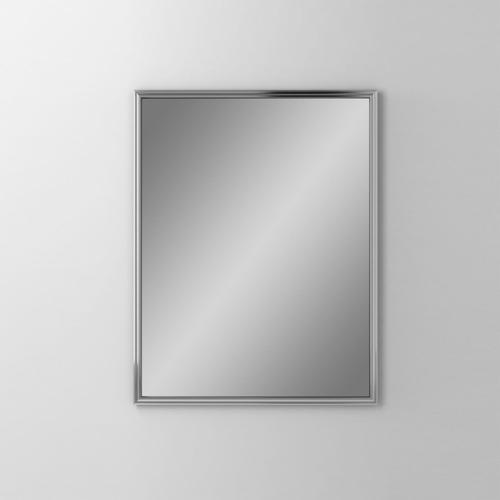 """Main Line 23-1/8"""" X 29-7/8"""" X 1-5/8"""" Rosemont Framed Mirror In Chrome"""