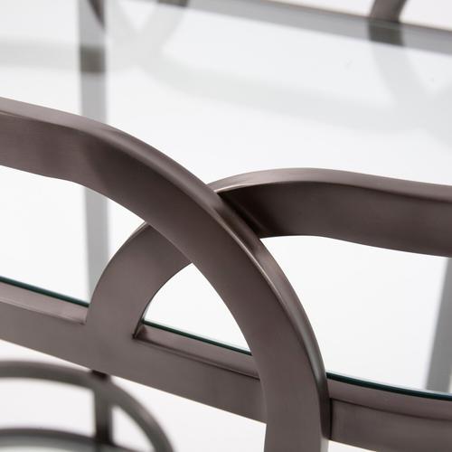 Howard Elliott - Black Nickel Stainless Steel Bar Cart