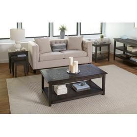 Grey Mosaic Nesting Tables - Set of 3
