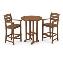 View Product - Lakeside 3-Piece Round Bar Arm Chair Set in Teak
