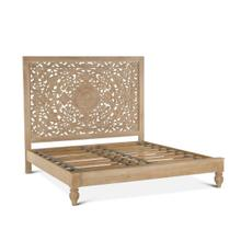 Taj Queen Bed Whitewash