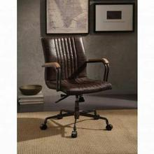 ACME Joslin Executive Office Chair - 92028 - Distress Chocolate Top Grain Leather