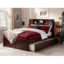 Newport Full Flat Panel Foot Board with Urban Trundle Walnut