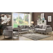 Stellan Contemporary Grey Three-piece Living Room Set