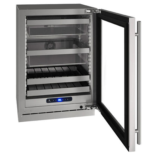 "24"" Beverage Center With Stainless Frame Finish and Field Reversible Door Swing (115 V/60 Hz Volts /60 Hz Hz)"