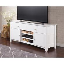 See Details - Nantucket 2 Drawer 60 inch Entertainment Console with Adjustable Shelves in White