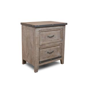 Horizon Home FurnitureUrban Rustic Gray Nightstand