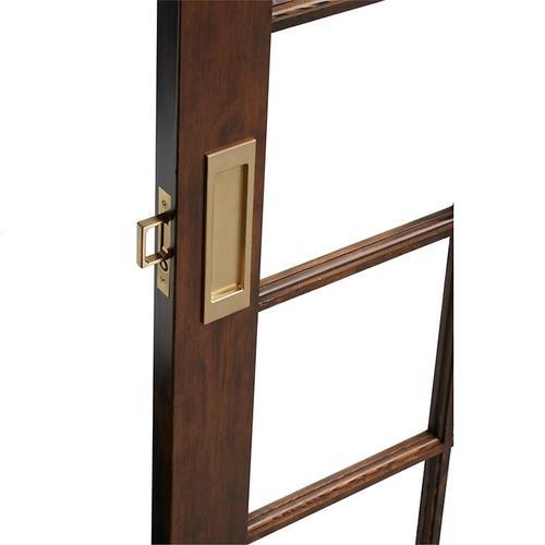 Baldwin - Vintage Brass PD005 Large Santa Monica Pocket Door