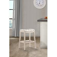 Sorella Non Swivel Backless Counter Stool - White