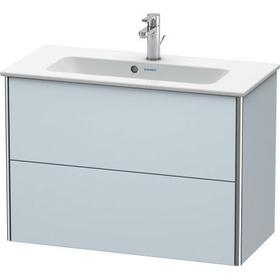 Vanity Unit Wall-mounted Compact, Light Blue Satin Matte (lacquer)