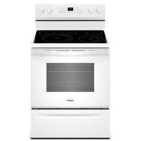 5.3 cu. ft. Whirlpool® electric range with Frozen Bake™ technology White