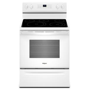 Whirlpool5.3 cu. ft. Whirlpool® electric range with Frozen Bake™ technology White