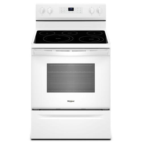 Whirlpool - 5.3 cu. ft. Whirlpool® electric range with Frozen Bake™ technology White