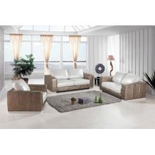 See Details - Divani Casa Cordova Modern Bronze & White Leather Sofa Set
