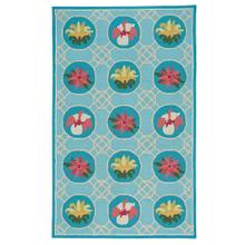 Flower Trellis Lt. Blue - Rectangle - 3' x 5'