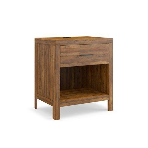 Midtown Maple Bedside Table W/Charger