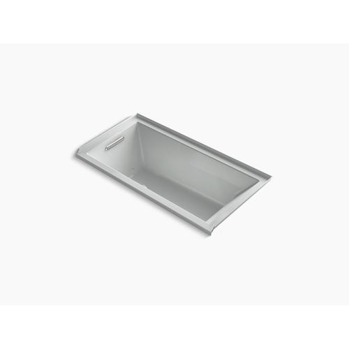 """Ice Grey 60"""" X 30"""" Heated Bubblemassage Air Bath With Bask , Left Drain"""