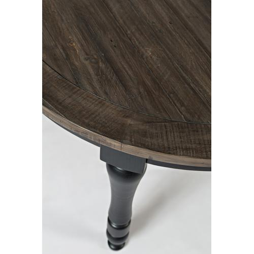 Jofran - Madison County Round To Oval Dining Table - Vintage Black
