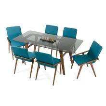 View Product - Modrest Zeppelin Modern Smoked Glass Dining Table