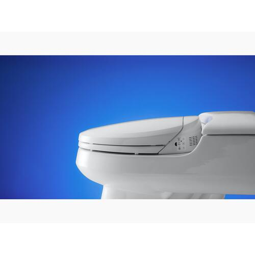 White Elongated Bidet Toilet Seat