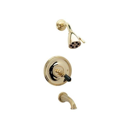 REGENT Pressure Balance Tub and Shower Set PB2274 - Polished Nickel with Polished Gold