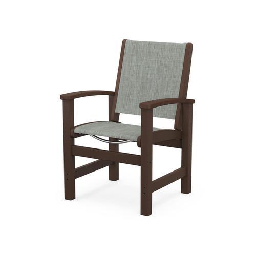 Coastal Dining Chair in Mahogany / Birch Sling