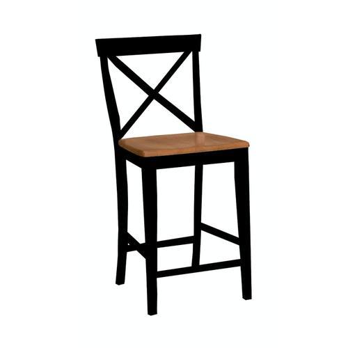 John Thomas Furniture - X-Back Stool in Black & Cherry