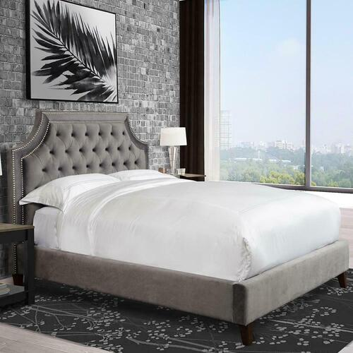 JASMINE - FLANNEL California King Bed 6/0 (Grey)