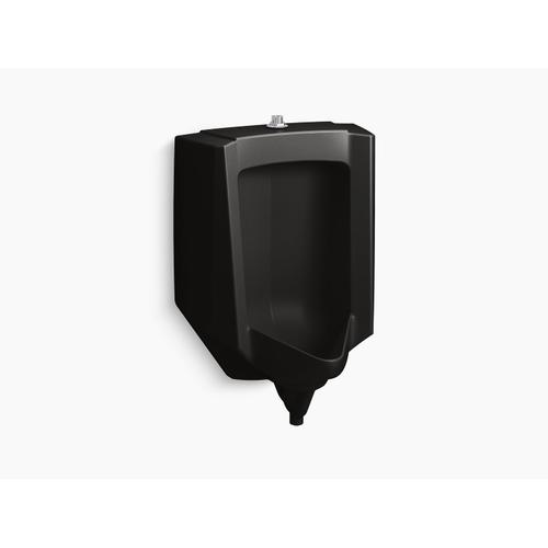 Black Black Blow-out 0.5 To 1.0 Gpf Urinal With Top Spud