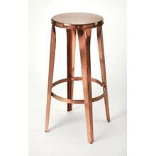 View Product - This backless iron barstool is a unique, modern addition to your dining room and breakfast nook high top table. They have a sturdy, four-legged design that provides a rustic, yet modern look that not only provides extra seating for your guests but also creates a modern, industrial style effortlessly in any room. With a circular top, allowing it to be placed in any direction, this lightweight design comes standard with a foot rest to ensure a comfortable resting place.