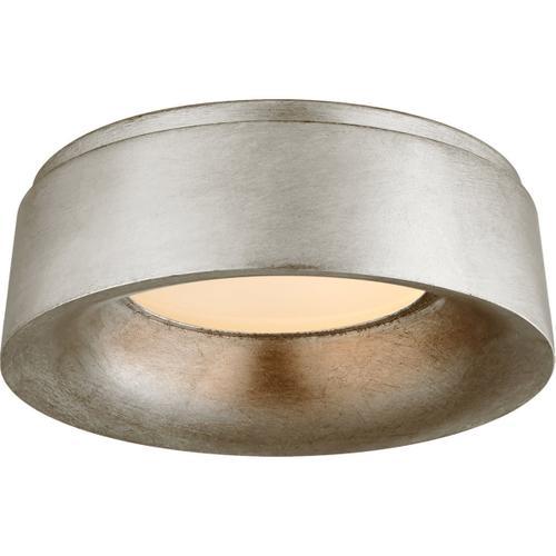 Visual Comfort - Barbara Barry Halo LED 11 inch Burnished Silver Leaf Flush Mount Ceiling Light