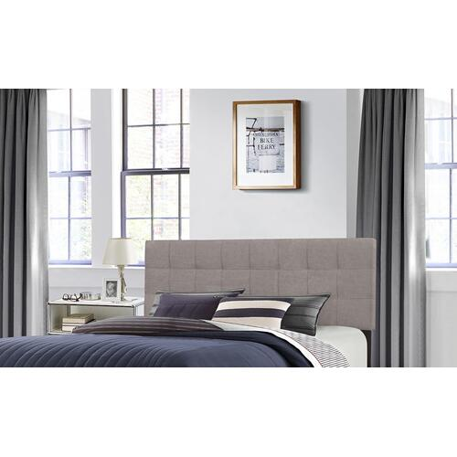 Delaney Full/queen Upholstered Headboard With Frame, Stone