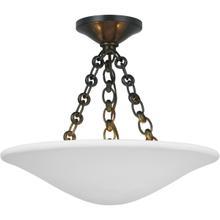 View Product - AERIN Mollino LED 16 inch Bronze Semi-Flush Mount Ceiling Light