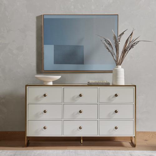 Sorella 9 Drawer Dresser-bright White