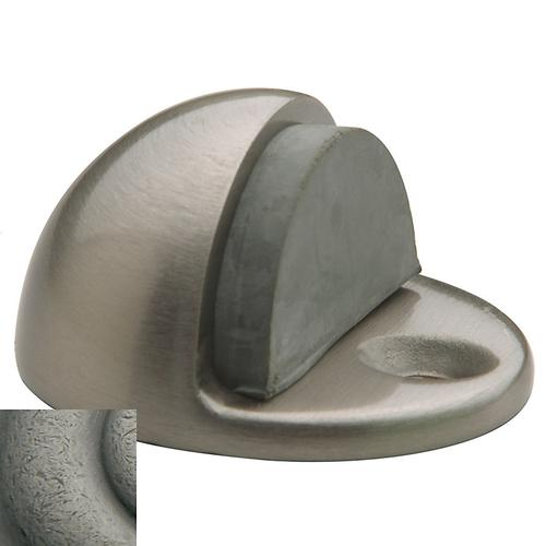 Baldwin - Distressed Antique Nickel Half Dome Door Bumper