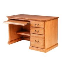 Forest Designs Traditional Oak Desk: 48W X 30H X24D with Keyboard Pullout