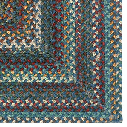 Bear Creek Deep Blue Braided Rugs
