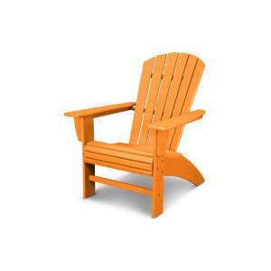 Polywood Furnishings - Nautical Curveback Adirondack Chair in Vintage Tangerine