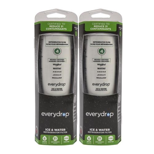 Whirlpool - Everydrop® Refrigerator Water Filter 4 - EDR4RXD1 (Pack Of 2)