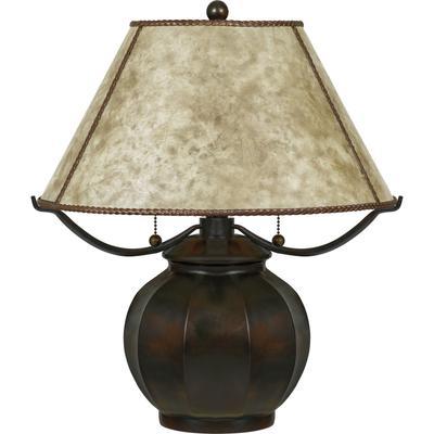 Mica Table Lamp in Valiant Bronze