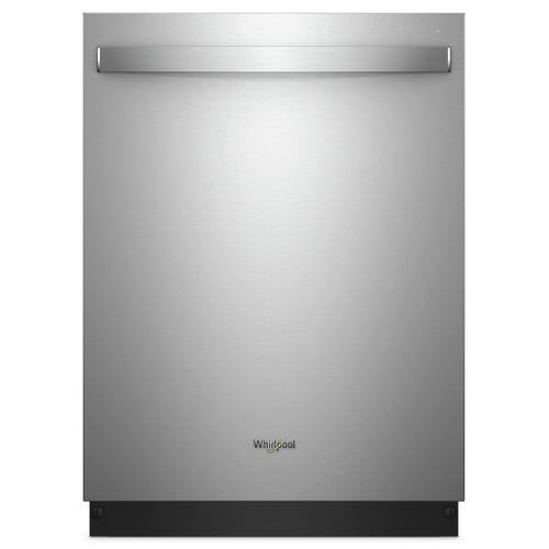 Whirlpool - Stainless Steel Tub Dishwasher with Third Level Rack Fingerprint Resistant Stainless Steel