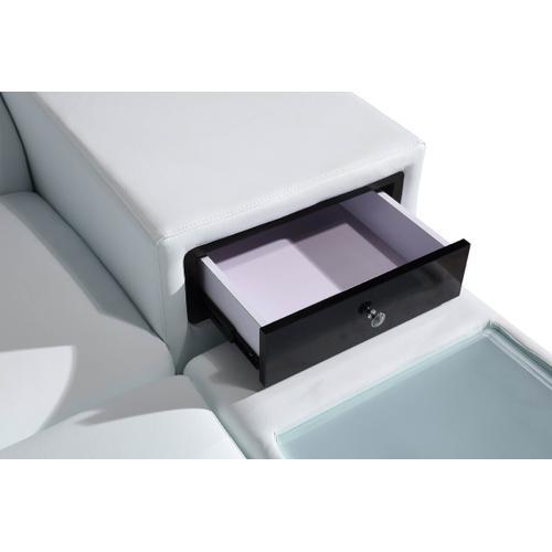 VIG Furniture - Divani Casa Polaris - Contemporary White Leather U Shaped Sectional Sofa with Lights